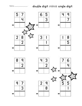 Double Digit Addition & Subtraction Without Regrouping