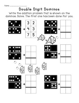 Double Digit Addition Without Regrouping Worksheet Packet