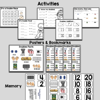 Doubles Facts Posters and Activities Building Number