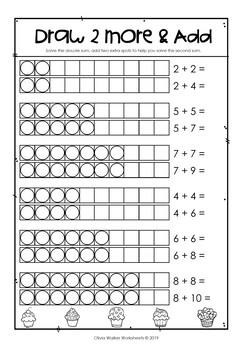Double Plus Two, Grade One Math Strategy Printables by