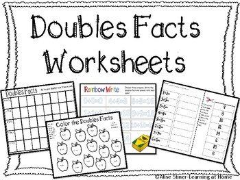 Doubles Facts Worksheets-8 Worksheets Included! by Life on