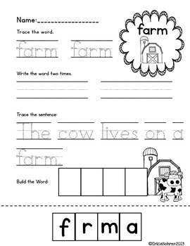 Farm: Literacy, Math, & Science Centers and Activities by