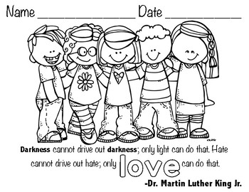 Martin Luther King Jr. Hat and Coloring Sheets by Red