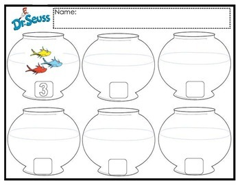Dr. Seuss Fish Counting & Subitizing Practice Mat by Dee