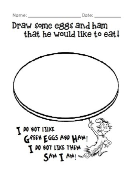 Dr. Seuss Green Eggs and Ham Activity Packet by OSEE's