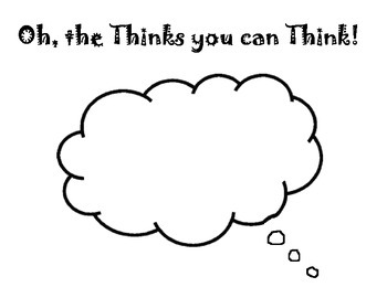 Dr. Seuss' Oh the thinks you can think Activity Page by