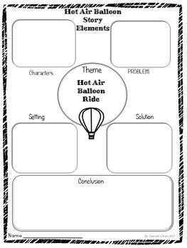 Hot Air Balloon Creative Writing Craftivity by Teacher's