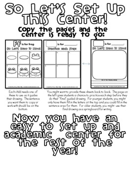 Draw It Now: Guided Drawing Literacy Centers for Blends