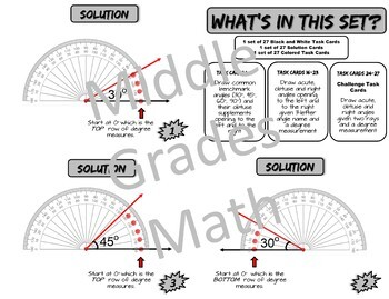 Draw and Label Angles With a Protractor Self-Correcting