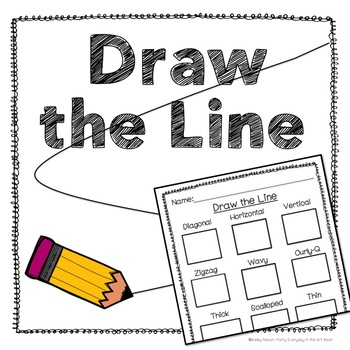Draw Lines: Art Handout by Party Everyday in the Art Room