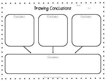 Drawing Conclusions Graphic Organizer by Emily Farnsworth