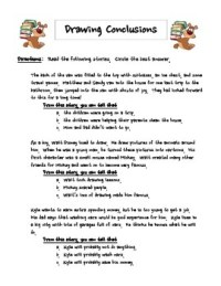 UPDATED!!! Drawing Conclusions Worksheet by Radical ...
