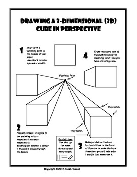 Drawing Cubes in 1 Point Perspective handout by Scott