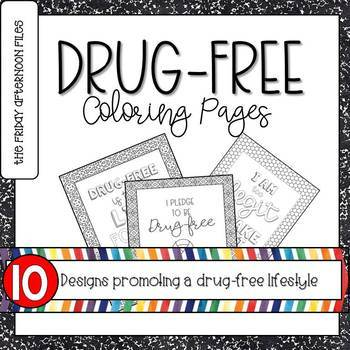 drug free coloring pages # 6