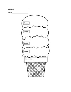 Dual Language Main Idea ice cream cone by Fantastic