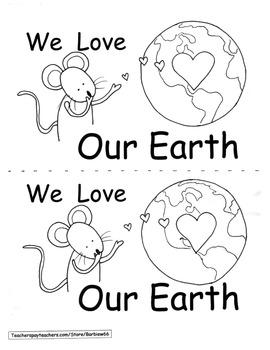 EARTH DAY Response Book and Graphic Organizer Kindergarten