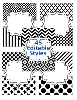 EDITABLE 45 Teacher Binder, Dividers, Planner and Binder