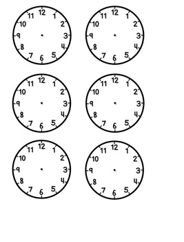 Daily Schedule Cards with Blank Clocks by Southern
