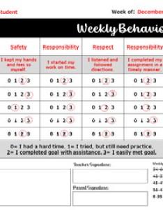 Editable daily and weekly behavior charts also by hookster   ideas tpt rh teacherspayteachers