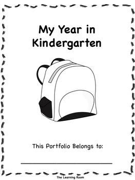 EDITABLE End of Year Kindergarten Student Portfolio