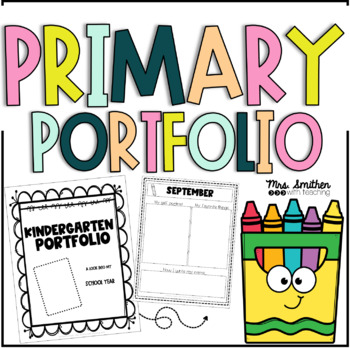 EDITABLE Kindergarten Portfolio with Cover Pages and