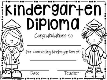 EDITABLE Preschool Diploma & Completion (Pre-K, TK, VPK