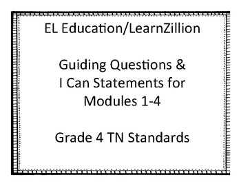 EL Education LearnZillion Grade 4 I Can Statements by