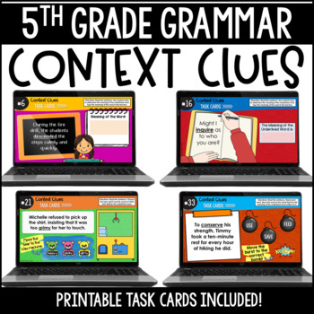 ELA Language Common Core Task Cards 5th Grade {L.5.4