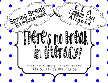 ELA Spring Break Review Packet {Common Core Aligned} by