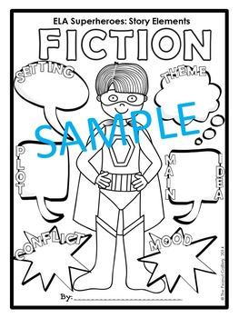 ELA Superheroes: Fiction Story Elements (