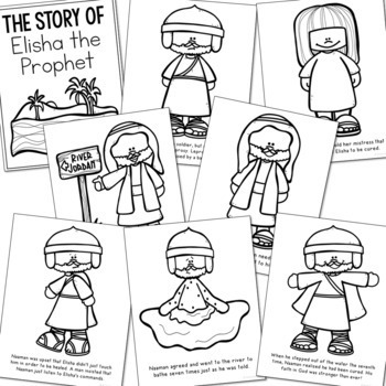 ELISHA THE PROPHET Bible Story Coloring Pages and Posters