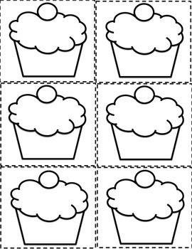 ESL Birthday Graph Bulletin Board Cupcake Printables and