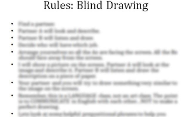 Esl Game Blind Drawing By Eslstuff Teachers Pay Teachers