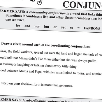 ESPERANZA RISING Grammar Conjunctions Interjections by