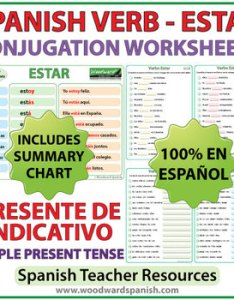 also estar spanish verb conjugation worksheets present tense tpt rh teacherspayteachers