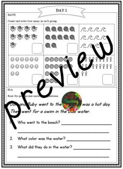 Spring Break: Kindergarten Spring Break Packet by Isla