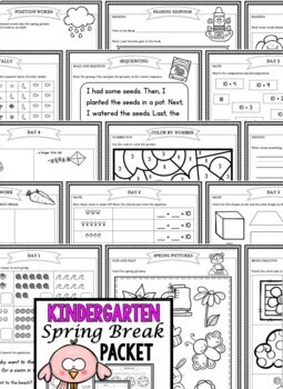 Spring Break: Kindergarten Spring Break Packet by Isla