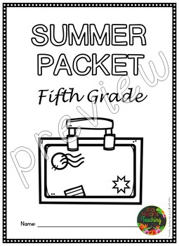 Fifth Grade Summer Packet (Fifth Grade Summer Review
