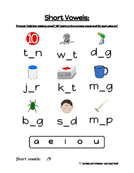 Early Literacy Skills Assessments (Adapted for Receptive