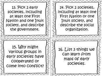 Early Societies (Ancient Civilizations) Task Cards by