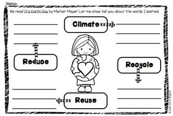 Earth Day Flipbook and Activities by Kindergarten Boom