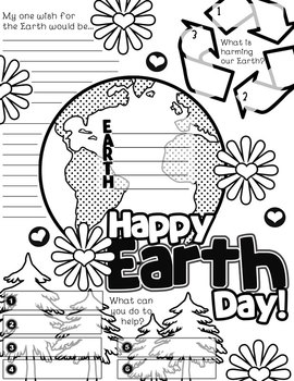 Earth Day Graphic Organizer Activity Poster Freebie by
