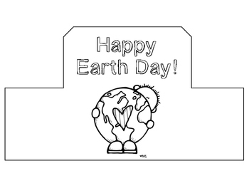 Earth Day Hat for Students: Hat Template by Millares in