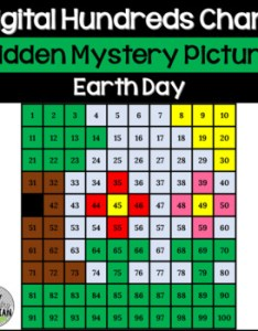 also earth day hundreds chart hidden picture activity for spring math rh teacherspayteachers