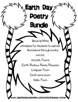 Earth Day Poems for Earth Day and Poetry Month! by Vanessa