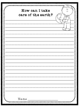 Earth Day Writing Prompt Ruled Lines By Drv