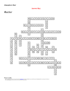 Answer Key Earth Science Crossword Puzzle Answers