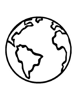 Earth Template for Art Project Earth Coloring Page Earth