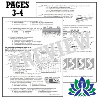 Earth's Changing Surface Weathering and Erosion Worksheet