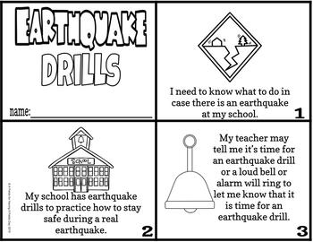 Earthquake Drill Social Story Mini Book Set by Having A